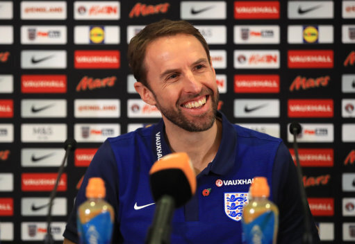 England manager Gareth Southgate during the press conference at St George's Park Burton