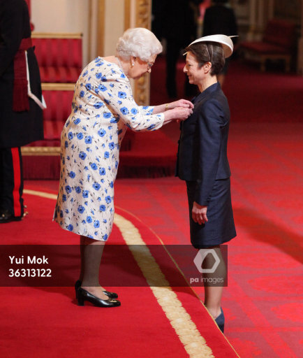 Former alpine skier Sarah Lewis is made an OBE (Officer of the Order of the British Empire)by Queen Elizabeth II during an investiture ceremony at Buckingham Palace, London.