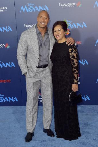 Dwayne Johnson with his mum, Ata. Credit: PA