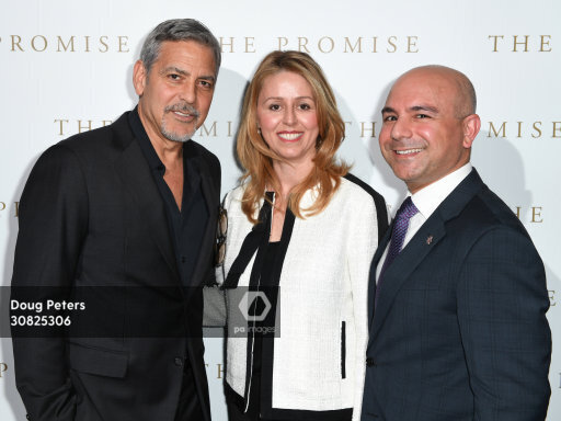 George and Amal at special screening of The Promise in London 2.30825306