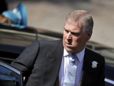 83b3ccfa The Duke of York arrives for the wedding between Zara Phillips and Mike  Tindall, at