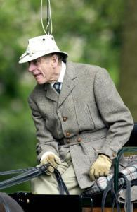 Prince Philip Takes Part In The Land Rover International Carriage Grand Prix At Royal Windsor