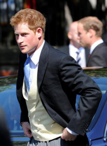 0d9224a1 Prince Harry arrives for the wedding of Zara Phillips and Mike Tindall at Canongate  Kirk in