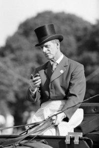 The Duke Of Edinburgh Takes Part In Knight Frank Rutley International Grand Prix