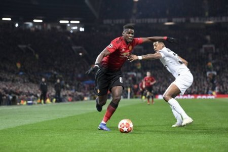 06 PAUL POGBA (MAN) - 03 PRESNEL KIMPEMBE (PSG) FOOTBALL : Manchester United ManU vs Paris SG - Ligue des Champions - 12/02/2019 AnthonyBIBARD/FEP/Panoramic.