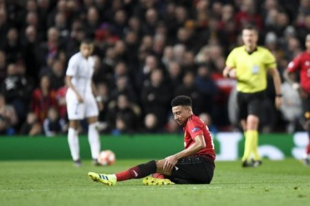 14 JESSE LINGARD (MAN) - BLESSURE - DECEPTION FOOTBALL : Manchester United ManU vs Paris SG - Ligue des Champions - 12/02/2019 AnthonyBIBARD/FEP/Panoramic.