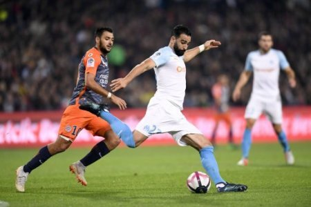 23 ADIL RAMI (OM) - 10 GAETAN LABORDE (MHSC) FOOTBALL : Montpellier vs Marseille - Ligue 1 Conforama - 04/11/2018 AnthonyBIBARD/FEP/Panoramic.