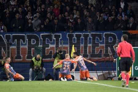 25 FLORENT MOLLET (MHSC) - 10 GAETAN LABORDE (MHSC) - JOIE FOOTBALL : Montpellier vs Marseille - Ligue 1 Conforama - 04/11/2018 AnthonyBIBARD/FEP/Panoramic.
