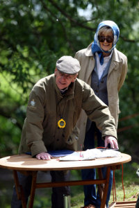 The Duke Of Edinburgh In His Role As Time Keeper At Water Obstacle