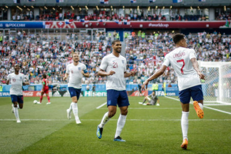 June 24, 2018 - Nijni Novogorod, Vazio, Russia - Jesse Lingard scores goal during World Cup 2018 England vs Panama valid for the 2nd round of Group G held at the Níjni Novgorod…